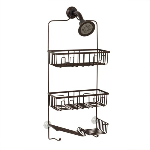 Bronze Hanging Antique (Zenna Home 7781HB, Over-The-Showerhead Caddy, Oil Rubbed Bronze)