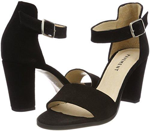 Sandali Donna Caviglia Cinturino Pavement Con 017 Suede Nero black Silke Alla Yqx6nP57n