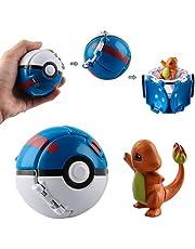 Poké Ball, Pokeball met figuur, Pokeball, ballen om te werpen, Pokeball, mini-figuurtjes voor Enfants et Volwassenen Party Celebration Fun Speelgoed Game Gift