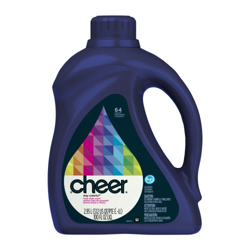 Cheer 2x Ultra Liquid HE Fresh Clean Scent, 64-Load, 100-Ounce(Pack of 4)(Packaging May Vary)