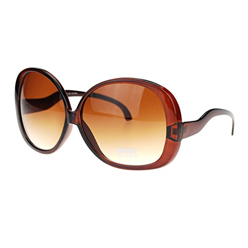 Extra Large Oversized Curved Drop Temple Womens Butterfly Fashion Sunglasses - 70 Sunglasses
