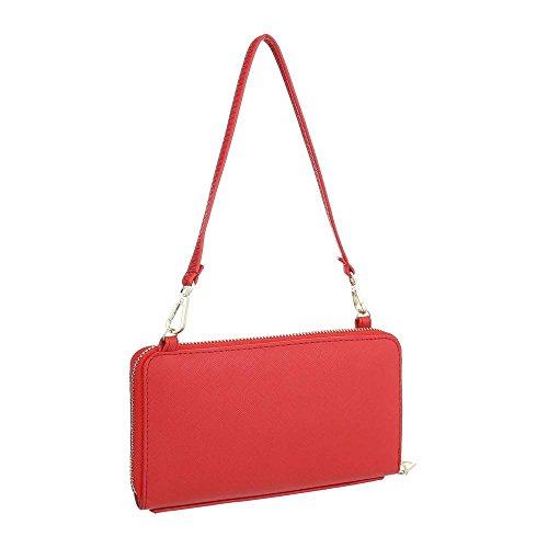 catenina a XD144 Rosso Borsa Coachella clutch Elegante Donna con spalla stile Femminile RED TA Borsetta red Moda Fashion PASSION Pochette Borsa Tracolla 4zwYq