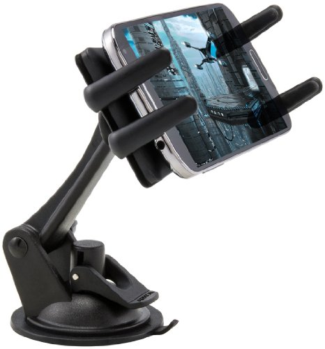 (Arkon Windshield Dash Phone Car Mount for iPhone XS Max XS XR X 8 Galaxy Note 9 S10 S9 Retail Black)