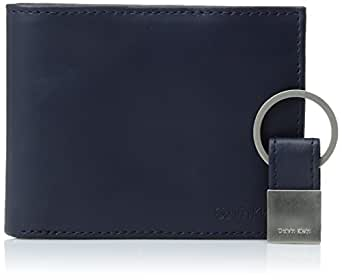 Calvin Klein Men's RFID Blocking Leather Bifold Wallet, Navy, One Size