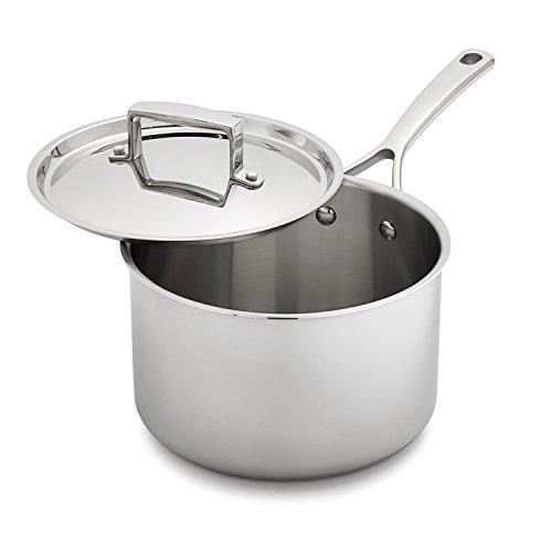 Sur La Table Tri Ply Stainless Steel Saucepan Slt 0001242   3 5 Qt