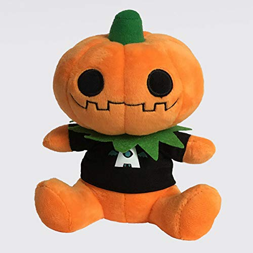 AtmosFX Gourdy Plushie, Collectable Plush Pumpkin Doll Mascot for Halloween Decorators -