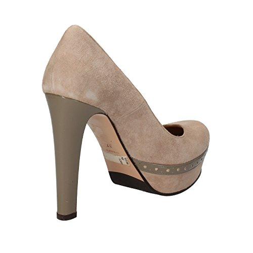 GIANNI MARRA Zapatos de Salón Mujer 37 EU Beige Gamuza AD140