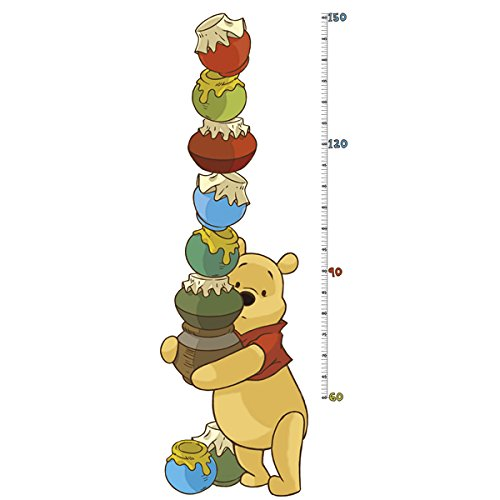RoomMates INT1501GCWinnie the Pooh Pooh /& Friends Peel and Stick Metric Growth Chart Wall Decals