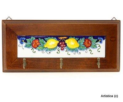 Italian Ceramics Majolica (MAJOLICA FRUTTA: Keys/Coat Hanger [#1625-FRM])
