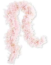 WEDDINGSTAR Sparkly Bachelorette Feather Boa - Light Pink