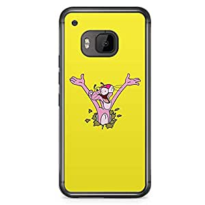 Loud Universe Pink Panther HTC M9 Case Surprise Pink Panther Yellow HTC M9 Cover with Transparent Edges