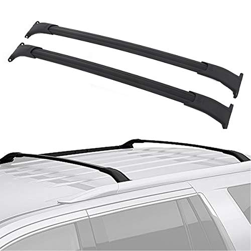 TRIL GEAR Top Roof Rail Rack Cross Bars Fit For 2015-2019 GMC Yukon XL Tahoe Suburban Escalade ESV Luggage Carrier