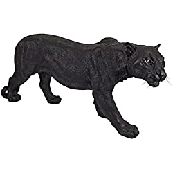Design Toscano Shadowed Predator Black Panther Garden Statue, Large