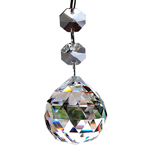 Crystal Glass Ball Chandelier Crystals Pendants Beads Strands Chandelier Prisms Pendants Parts Beads (Clear)-10 Pcs