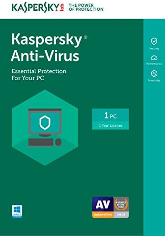 Kaspersky Anti-Virus 2017 | 1 Device | 1 Year | Download [Online Code]