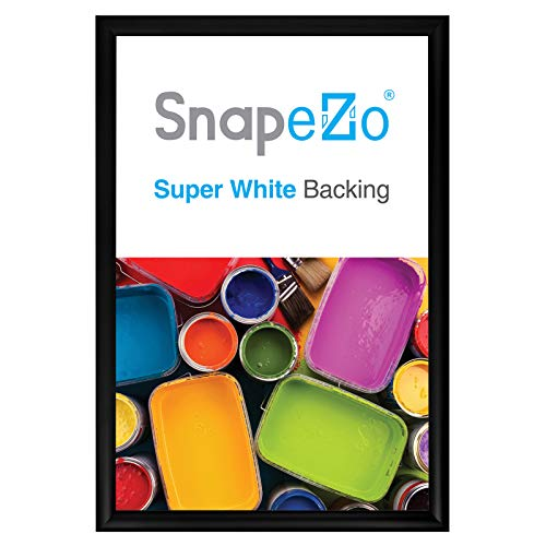 SnapeZo Poster Frame 13x19 Inches, Black 1.2 Inch Aluminum Profile, Front-Loading Snap Frame, Wall Mounting, Premium Series