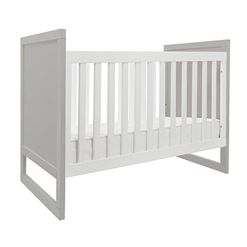Baby Mod Modena Mod Two Tone 3-in-1 Convertible Crib, Grey/White
