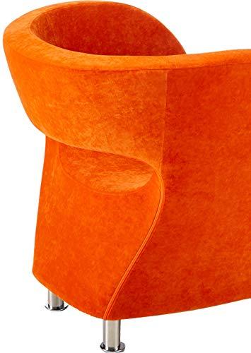 Christopher Knight Home 258647 Salazar Modern Design Accent Chair, Orange - 4