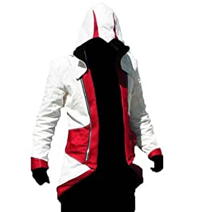 Connor Kenway Red Hoodie Jacket Red with White, Assassin's Creed 3, Size Xl Xcoser