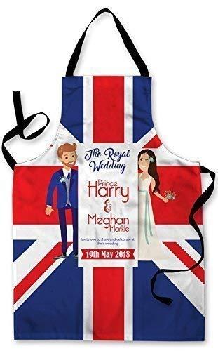 Spritzwassergeschützt Neuheit Cartoon Königliche Hochzeit Harry Meghan Foto