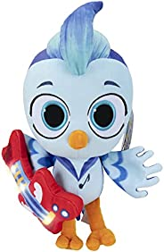 Do, Re & Mi Deluxe Feature Plush - 10-Inch 'Mi' The Blue Jay Plush with Lights and Sounds, with Attached G