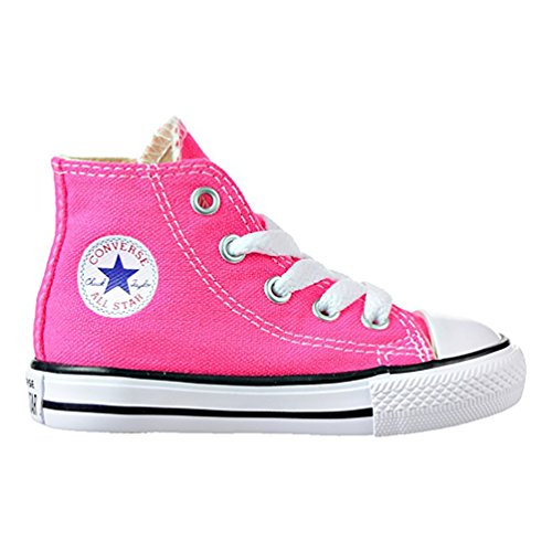 CONVERSE TODDLER All STAR HI INFANT PINK POW SIZE 9](Toddler Converse Shoes Size 9)