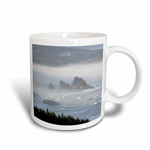 3dRose mug_93695_1 Use, Oregon, Gold Beach Foggy Morning on Seashore Us38 Bja0712 Jayne's Gallery Ceramic Mug, 11-Ounce (Oregon Outlets)