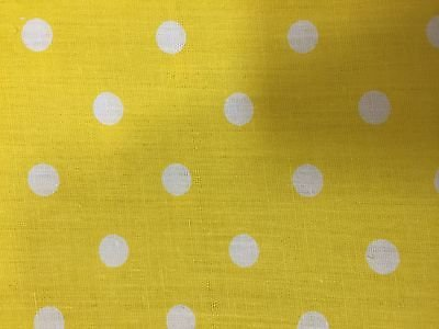 Polka Dot Dress Fabric (Yellow White Small Polka Dot Poly Cotton Fabric - Sold By The Yard - 58