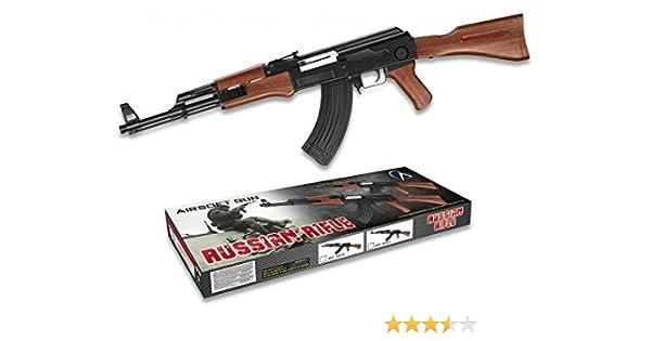 Cuchilleria Deportiva Arma Airsoft Larga Aire Suave 6 mm. Modelo Kalashnikov AK-47. Potencia 0,31 Julios - Arma para Airsoft con Cargador, Ideal Tanto ...