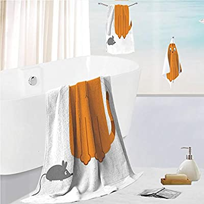 Bath towel 3 pieces hand towels set Microfibe Customized bath towel combination,Image Open Sky Cute Little Clouds Happy Digital Art,Customized bath towel combination Quick Drying & Super Absorbent