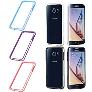 SHOUJIKE BIG D Transparent Bumper for Samsung Galaxy S6 G9200(Assorted Colors) , Pink