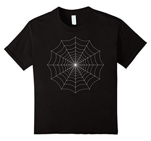 Kids Spider Web Costume Halloween T Shirt | Halloween Kids Shirt 6 Black