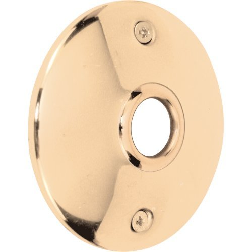 Prime-Line Products E 2296 Door Knob Rosettes, 3-Inch, Polished Solid Brass by Prime-Line Products