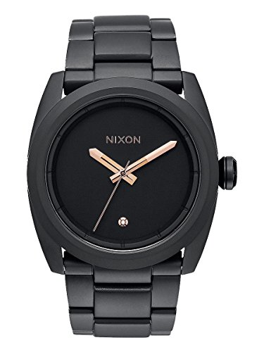 Nixon-Kingpin-All-Black-Rose-Gold-Stainless-Steel-Analog-watch