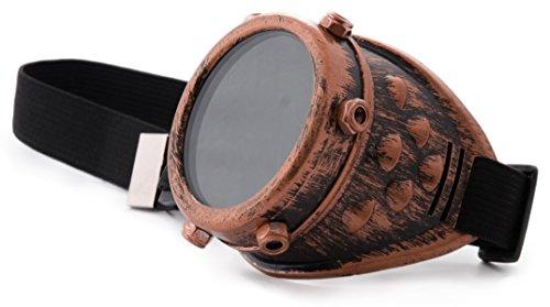 Vintage estilo number Steam Copper nbsp;Gafas Eye Victorian Copper gótico Goth TM Cyber vintage medium 6 4sold Punk Rave Antique nbsp;– One Goggles BFSqOwFzx