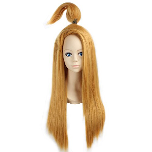 [Miss U Hair Synthetic Long Straight Yellow Golden Color Men's Cosplay Party Wig C311] (Naruto Deidara Cosplay Costume)