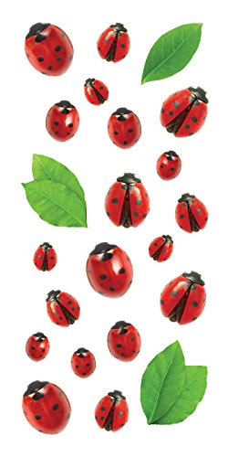 Paper House Productions ST-2281E Photo Real Sticky Pix Stickers, Ladybugs (6-Pack)