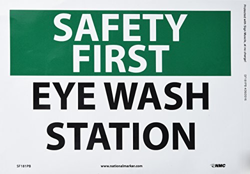 Emergency Eye Wash Osha (NMC SF181PB OSHA Sign, Legend