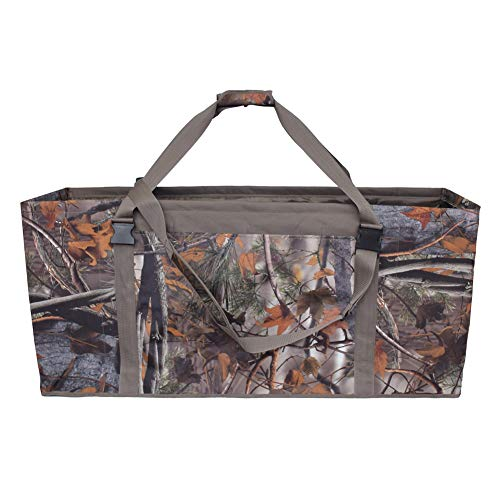 Nachvorn 12 Slot Duck Decoy Bag -Water & Dirt Drain System to Protect Duck Decoys - Padded & Adjustable Shoulder Strap CamoB