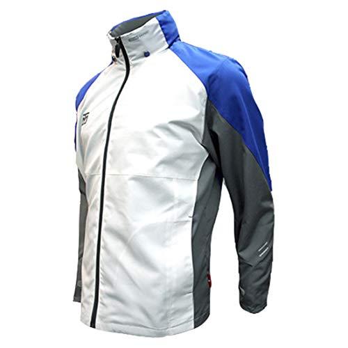 Mooto Wing Jacket Windbreaker Tracksuit Training Taekwondo Team Uniform Gym (180(170-180cm)(5.58-5.91ft), White+Blue)