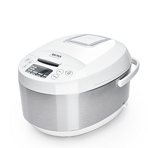 Aroma Housewares ARC-6206C Ceramic Rice Cooker/Multicooker, - Stainless Ceramic