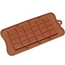 Freshware CB-607BR Silicone Break-Apart Chocolate, Protein and Energy Bar Mold