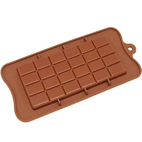 Freshware CB-607BR Silicone Break-Apart Chocolate, Protein and Energy Bar Mold]()