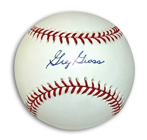 Autographed Greg Gross MLB Baseball - Signed MLB Baseballs