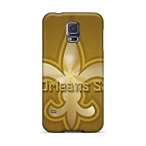 Scratch Protection Hard Phone Covers For Samsung Galaxy S5 With Support Your Personal Customized Trendy New Orleans Saints Skin WayneSnook