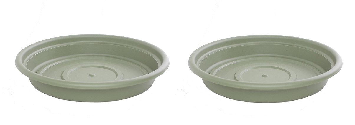 Bloem SDC24-42 Dura Cotta Plant Saucer, 24-Inch, Living Green (Pack of 2)