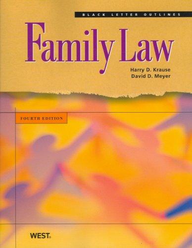 Black Letter Outline on Family Law (Black Letter Outlines)