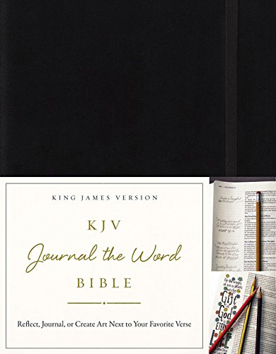 KJV, Journal the Word Bible, Hardcover, Black, Red Letter Edition: Reflect, Journal, or Create Art Next to Your Favorite