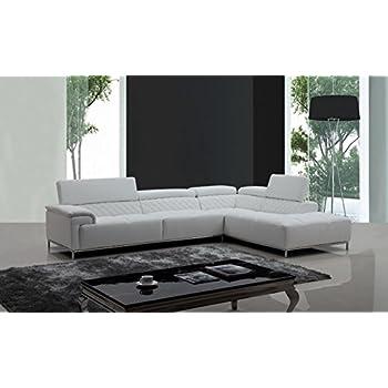 Vig furniture divani casa citadel modern white for Amazon divani