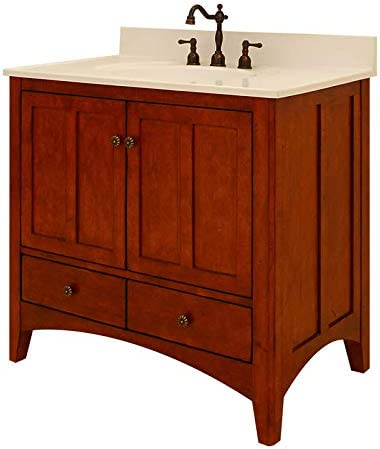 Sunny Wood EP3621D Expressions 36 Wood Vanity Cabinet Only, Cinnamon Nutmeg